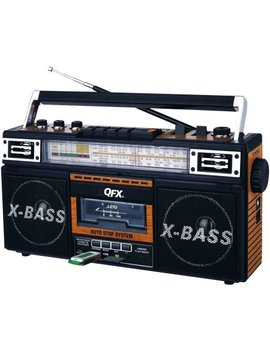 Qfx Am/Fm/Sw1 Sw2 4 Band Radio And Cassette To Mp3 Converter, And Recorder With Usb/Sd/Mp3 Player Wood by Quantum Fx