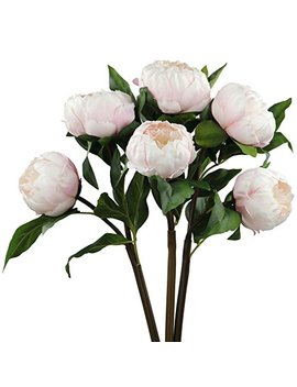 Rinlong Silk Vintage Peony Artificial Flowers Spray 3 Stems Pink For Diy Carft Floral Arrangement Home Decor Wedding Bouquet by Rinlong