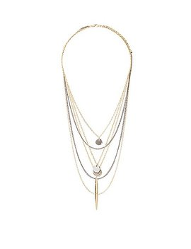 Pave Crystal Layered Chain Necklaces by Charlotte Russe