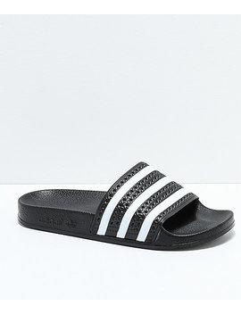 Adidas Boys Adilette Black Slide Sandals by Adidas