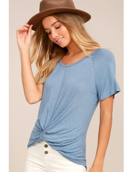 Basic Is Best Slate Blue Tee by Lush