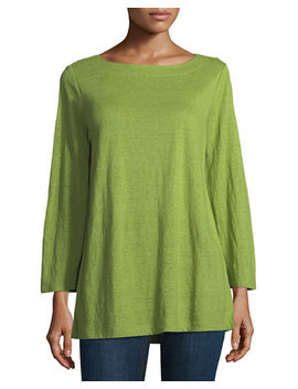 Organic Linen Jersey Top by Eileen Fisher