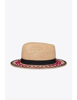 Top Stitch Hat by Tory Burch