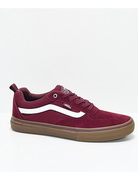Vans Walker Pro Burgundy, White & Gum Skate Shoes by Vans