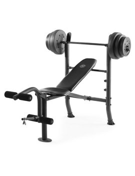 Gold's Gym Xr 8.1 Combo Weight Bench With 100 Lb. Vinyl Weight Set by Gold's Gym