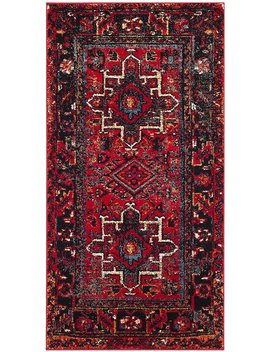 "Safavieh Vintage Hamadan Collection Vth211 A Antiqued Oriental Red And Multi Area Rug (2'7"" X 5') by Safavieh"