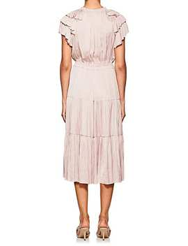 Balire Plissé Satin Midi Dress by Ulla Johnson