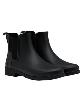 Hunter Women's Original Refined Chelsea Wellington Boots, Black by Hunter
