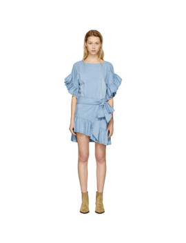 Blue Lelicia Dress by Isabel Marant Etoile