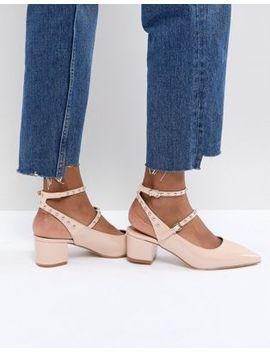 Raid Kenna Block Heel Studded Shoes by Raid