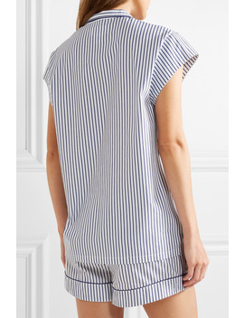 Olivia Striped Cotton Poplin Pajama Set by Three J Nyc