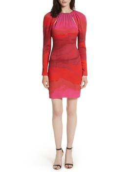Abstract Print Stretch Silk Sheath Dress by Tracy Reese