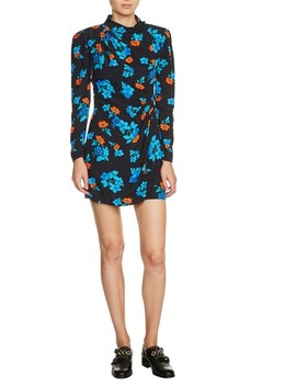 Floral Faux Wrap Dress by Maje