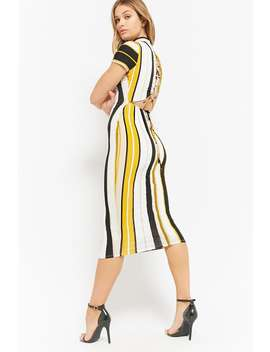 Striped Lace Up Maxi Dress by Forever 21