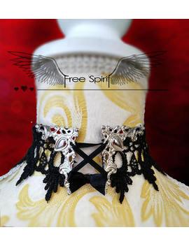 Choker * Steampunk Choker * Steampunk Jewelry *Victorian Choker *Gothic Choker *Gear Necklace * Victorian Steampunk Choker *Lace Choker by Etsy