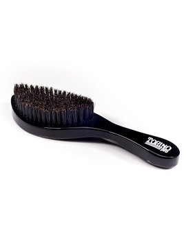 Curved 360 Waves Brush By Brush King   Torino Pro #450   Medium Hard Curve Wave Brush   Made With Reinforced Boar & Nylon Bristles///True Texture Medium Hard by Torino Pro