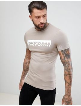 Asos Design Muscle T Shirt With Uniform Print by Asos