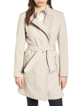 Asymmetrical Belted Trench Coat by Kenneth Cole New York