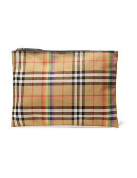 Checked Poplin Pouch by Burberry