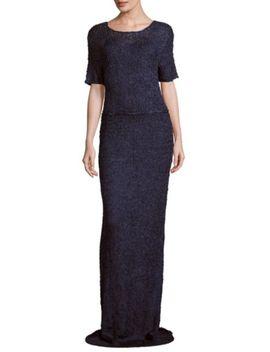 Floor Length Chiffon Dress by Teri Jon