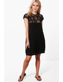 Boutique Isla Lace Top Shift Dress by Boohoo
