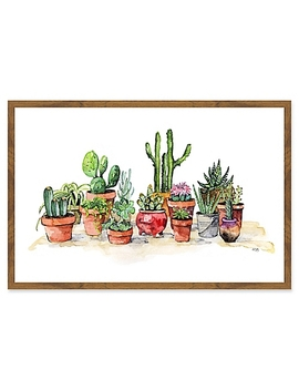 Marmont Hill Potted Plants Framed Wall Art by Bed Bath And Beyond