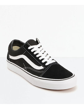 Vans Old Skool Black & White Skate Shoes by Vans