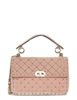 Rockstud Spike Velvet Shoulder Bag by Valentino Garavani