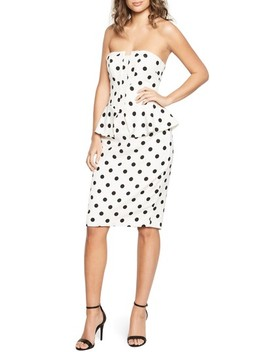 Suri Polka Dot Peplum Dress by Bardot