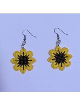 Sunflower Earrings by Etsy