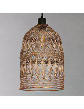 John Lewis Papri Easy To Fit Steel Ceiling Shade, Copper by John Lewis