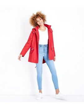 Red Quilt Lined Anorak by New Look