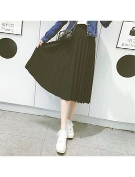 Pleated Chiffon Skirt by Bloombloom
