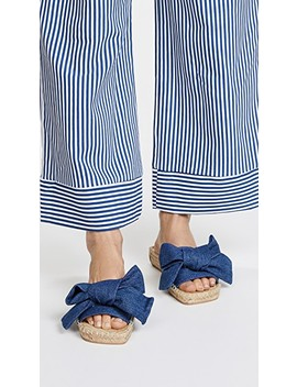Denim Bow Slides by Jeffrey Campbell