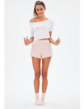 White Baby Short Pajama Set by Missguided