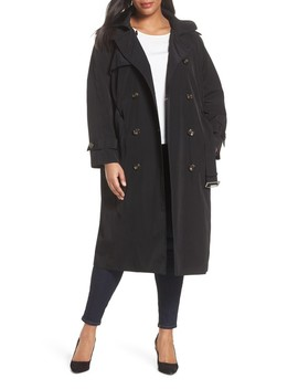 Water Resistant Hooded Trench Coat by London Fog