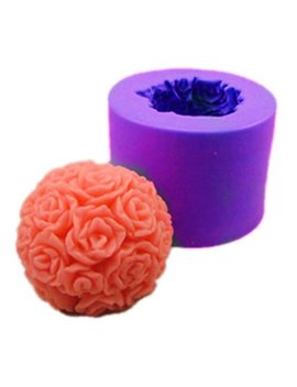 Longzang Ball Rose S0245 Silicone Candle Molds Soap Mold Craft Molds Diy by Longzang