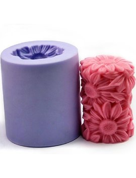Flower Candle Mold Silicone Soap Mold Candle Mould Diy Candle Making Mold by Wholeport