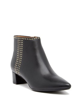Graziana Studded Leather Bootie by Calvin Klein