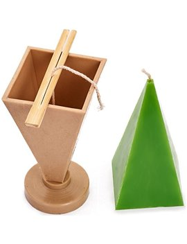 Candle Shop   Pyramid Mold   Height: 6.3 In, Width: 2.7 In   30 Ft. Of Wick Included As A Gift   Plastic Candle Molds For Making Candles by Candle Shop