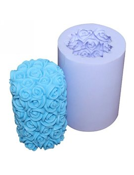 Longzang Rose S0211 Silicone Candle Molds Soap Mold Craft Molds Diy by Longzang