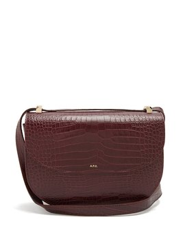 Genève Crocodile Effect Leather Cross Body Bag by A.P.C.