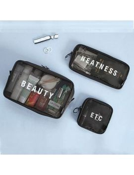 Lettering Mesh Pouch by Storage Master