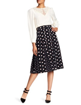 Printed Box Pleat Silk Skirt by Marc Jacobs