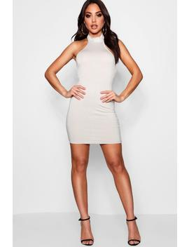 Helen High Neck Bodycon Mini Dress by Boohoo