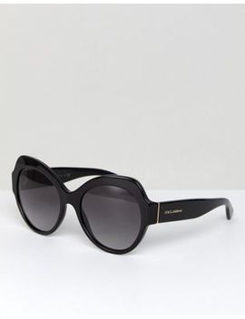 Dolce & Gabbana 0 Dg4320 Oversized Round Sunglasses In Black 56mm by Dolce & Gabbana