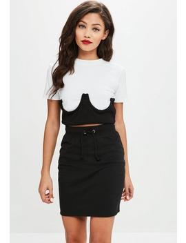 Petite Black Mini Skirt by Missguided