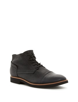 Spencer Black F/G Leather Chukka Boot by Walk Over