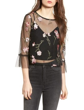 Embroidered Mesh Top by Ten Sixty Sherman