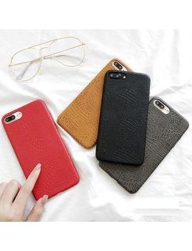 Faux Leather I Phone 6 / 6 Plus / 7 / 7 Plus Case by Homap